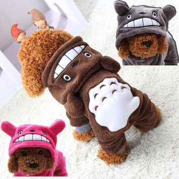 Warm Dog Clothes Coat Pet Costume Fleece Clothing For Dogs Puppy Cartoon Winter Hooded Jacket Autumn Dog Clothes XS-XXL 29S1