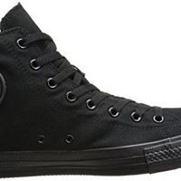Converse Men's Chuck Taylor High Top Sneaker Black Monochrome 7 M