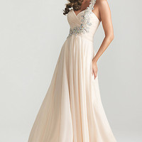 Night Moves One Shoulder Prom Dress 6679,2013 Spring Prom Dresses