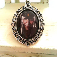 Loki Tom Hiddleston Pendant Cameo Necklace