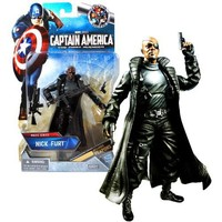 "Hasbro Year 2011 Marvel Studios ""Captain America The First Avenger"" Exclusive 6 Inch Tall Action Figure - Movie Series NICK FURY Sniper Assault Rifle, Assault Rifle with Grenade Launcher and 2 Pistols with Holsters"