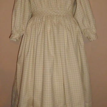 Girls 1860's Civil War Dress Size 7-8, Ready to Ship