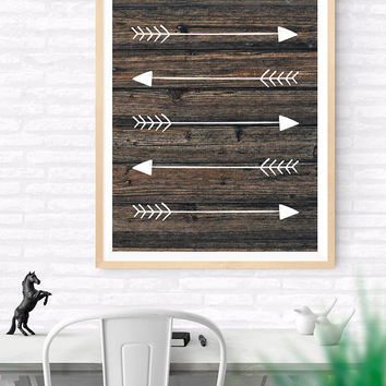 Arrows Printable, Wooden Arrows Instant Download, Hunting Arrows, Tribal Art Print, Traditional Arrows, Wood and Arrows Decor, Hunter's Gift