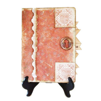 Renaissance Diary, Medieval Art Journal, England  Travel Journal, Faux Medieval Travel Journal, Elizabeth I Tudor Style Journal,