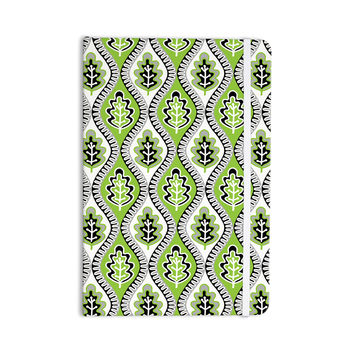 "Jacqueline Milton ""Oak Leaf - Lime"" Green Floral Everything Notebook"