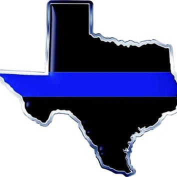 Thin Blue Line Texas State Decal