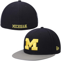 Michigan Wolverines New Era Side Filler 59FIFTY Fitted Hat – Navy Blue