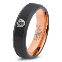 Oakland Raiders Ring Mens Fanatic NFL Sports Football Boys Girls Womens NFL Jewelry Fathers Day Gift Tungsten Carbide 168-R