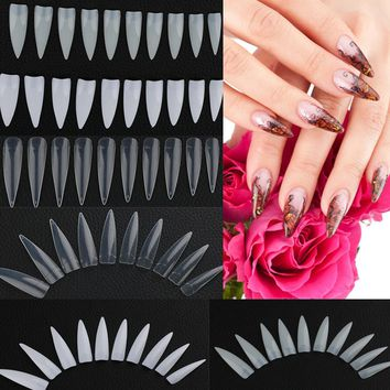 500Pcs/Bag High Quality Fashion Natural white French Acrylic False Fake Nail Art Fingernail Full Tips Fake Fingernail