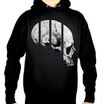 Medical Oddities Human Skull Pullover Hoodie Sweatshirt Occult Clothing