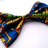Superman Big Hair Bow- Rockabilly/Psychobilly