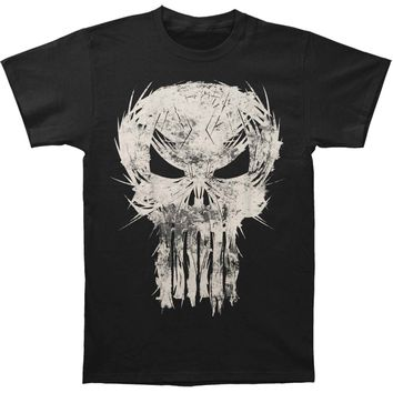 Punisher Men's  Skull Spiked T-shirt Black