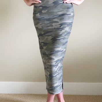 Covered In Camo High Waisted Skirt