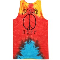 Neff Mac Peace Tank Top - Mens Tee - Tie Dye -
