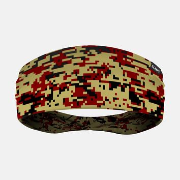Digital Camo Gold Maroon Black Headband