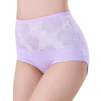 LMFIJ6 Sexy Women Lace Panties Fashion Designer Briefs High Waist Underwear Women's Panty