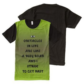 Obstacles Quote by Kat Worth Men's All-Over-Print T-Shirt