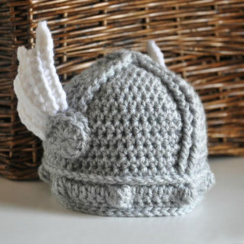Newborn Baby Valkyrie Helmet with Wings Baby Hat