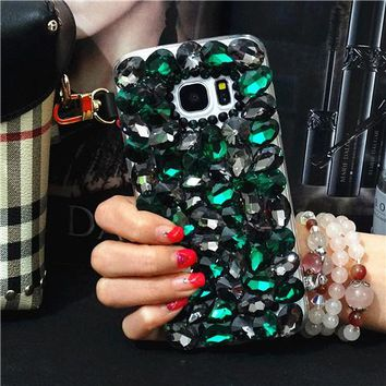 Fashion DIY Handmade Bling Full Crystal Diamond Case For Samsung Galaxy S8/7/6 Edge Plus Note 8 5 4 3 2 S5/4/3 A3/5/7/8