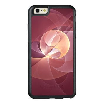 Movement Abstract Modern Wine Red Pink Fractal Art OtterBox iPhone 6/6s Plus Case