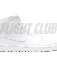 air jordan 1 mid - white/white-cool grey | Flight Club