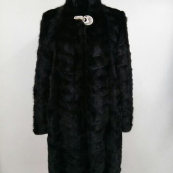 Real Piece mink fur coat For Women stand collar Natural Mink Fur Jacket Outwear