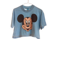 Vintage Mickey Mouse Crop Top Size Small