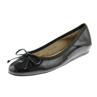 Fifth Avenue Womens Loralei Patent Leather Covered Wedge Heels