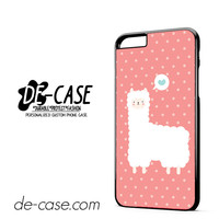 Pink Cute Alpaca DEAL-8655 Apple Phonecase Cover For Iphone 6/ 6S Plus