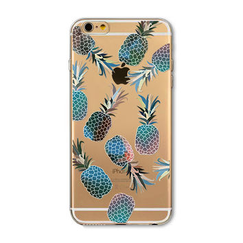 Gradient color pineapple phone case for iphone 5 5s SE 6 6s 6 plus 6s plus + Nice gift box 072701
