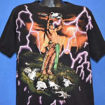 90s American Thunder Native American t-shirt Extra Large