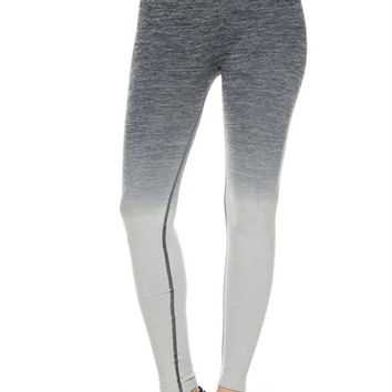 High Waisted Seamless Ombre Yoga Leggings