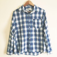 Aly Vintage Blue Flannel