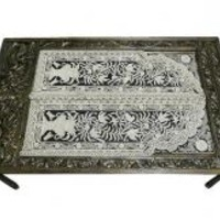 Bone Inlay Furniture, Dining Table, Antique Table Furniture USA