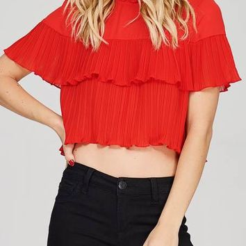 Layered Sheer Crop Top