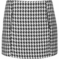 Dogtooth Zip Pelmet Skirt