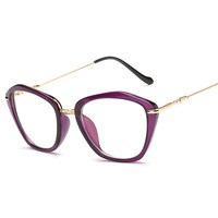 2016 New arrival Korean Brand Design Women Cat Eye Reading Glasses Frame Vintage Myopia Optical Prescription Eyeglasses