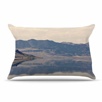 "Sylvia Coomes ""Reflective 2"" Beige Brown Pillow Case"