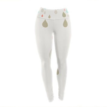 "Very Sarie ""Rainy Days"" Multicolor Rain Yoga Leggings"