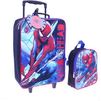 Kids Travel Character Rolling Wheeled Luggage Suitcase and Backpack Set
