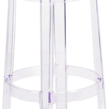 Transparent Ghost Counter Height Stool 25.75''