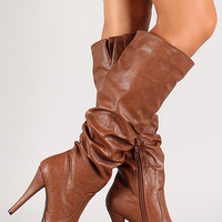 Slouchy Stiletto Knee High Boot