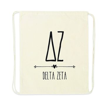 Sorority Name with Boho Design Drawstring Bag - All 26 NPC Organizations Available