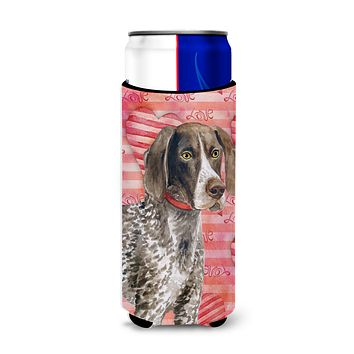 German Shorthaired Pointer Love Michelob Ultra Hugger for slim cans BB9728MUK