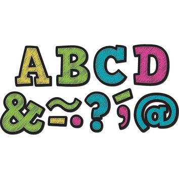 Chalkboard Brights Bold Block 2in Magnetic Letters