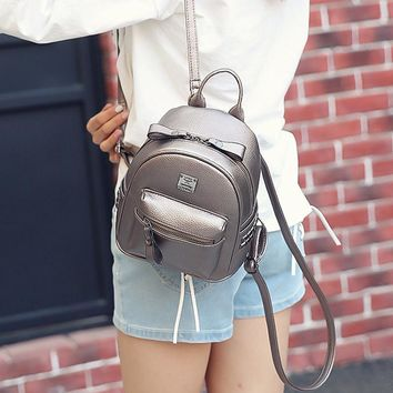 Women  Backpack Fashion  Leather Backpacks for Teenage Girl's small  School