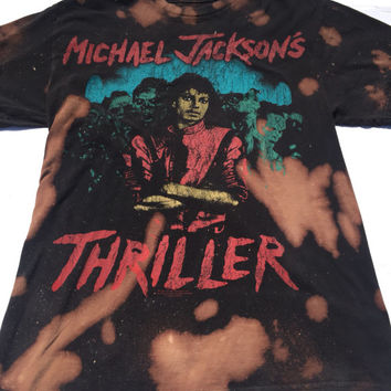 "Michael Jackson / ""Thriller "" Tee / Rap Tee / Band Tee / Splattered Tee/ Distressed Tee/ Size Small"