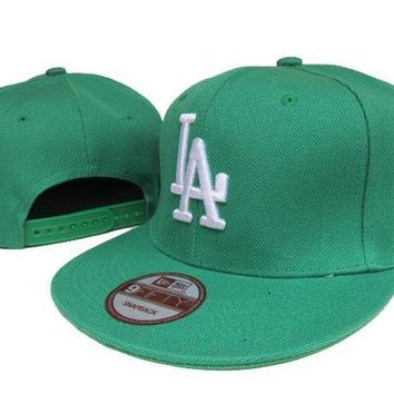 LMF8KY Los Angeles Dodgers New Era MLB 9FIFTY Cap Green-White