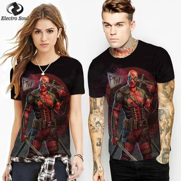 Deadpool Dead pool Taco 2018 Preferred summer Marvel  3d digital printed t-shirt Cool Tees Tops Brand Clothing fashion casual Tops AT_70_6