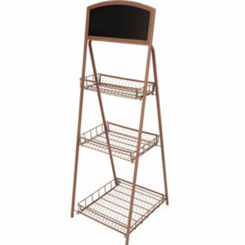 Panacea 3-Tier Rustic Chalkboard Plant Stand - For Life Out Here
